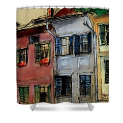 Houses In Transylvania 1 Shower Curtain by Mona Edulesco