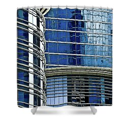Houston Architecture 1 Shower Curtain