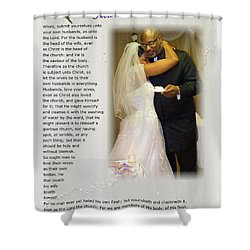 How Much Do I Love Thee Shower Curtain by Terry Wallace