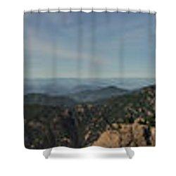 Huangshan Morning Panorama 1 Shower Curtain