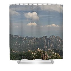 Huangshan Panorama 1 Shower Curtain