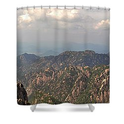 Huangshan Panorama 3 Shower Curtain