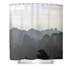 Huangshan Panorama 4 Shower Curtain