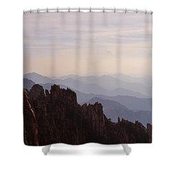 Huangshan Sunset Shower Curtain