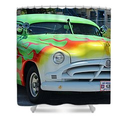 Hudson Low Rider Roadster Shower Curtain by Rene Triay Photography