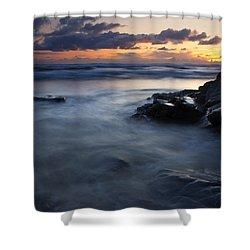 Hug Point Sunset Shower Curtain by Mike  Dawson