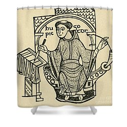 Hugo Pictor Shower Curtain by Photo Researchers