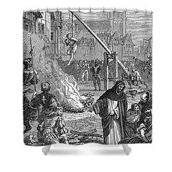 Huguenots: Persecution Shower Curtain by Granger
