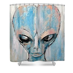 Human I Am Human Let Me Remain Shower Curtain by Fabrizio Cassetta