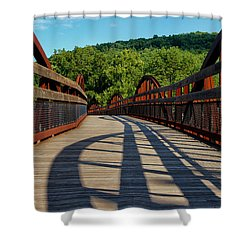Humps And Shadows Shower Curtain by Rachel Cohen
