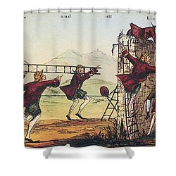 Humpty Dumpty, 1843 Shower Curtain by Granger