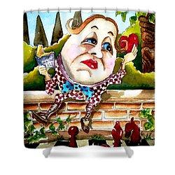 Humpty Dumpty Shower Curtain by Lucia Stewart