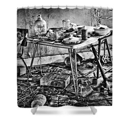 Hungry Helpers Shower Curtain by Empty Wall