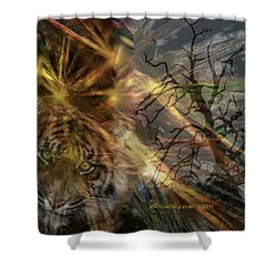 Shower Curtain featuring the photograph Hunter by EricaMaxine  Price