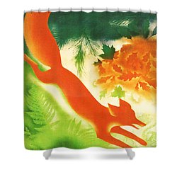 Hunting In The Ussr Shower Curtain by Georgia Fowler