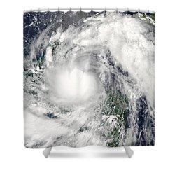 Hurricane Alex Shower Curtain by Stocktrek Images
