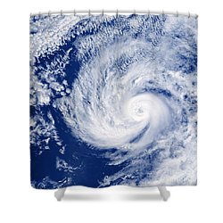 Hurricane Cosme Shower Curtain by Science Source