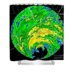 Hurricane Rita, Wfo Radar, 2005 Shower Curtain by Science Source