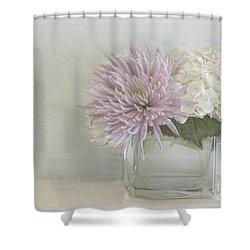 Hydrangea And Mum Shower Curtain