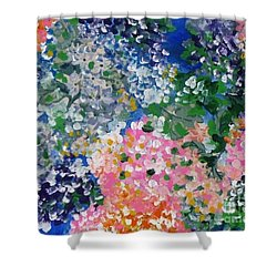 Shower Curtain featuring the painting Hydrangeas I by Alys Caviness-Gober