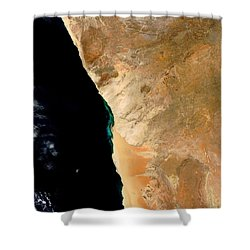 Hydrogen Sulfide Eruption Off Namibia Shower Curtain by Nasa