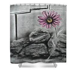 I Dance Alone Shower Curtain by Carla Carson