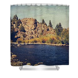 I Drift Away Shower Curtain by Laurie Search