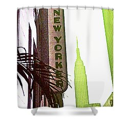 Shower Curtain featuring the photograph I Love New York by Beth Saffer