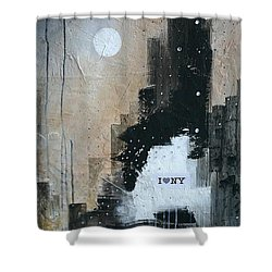 I Love Ny Shower Curtain by Germaine Fine Art