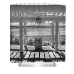 I Love Wine Shower Curtain by Jane Linders