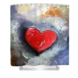 Shower Curtain featuring the painting I Love You by Gary Smith