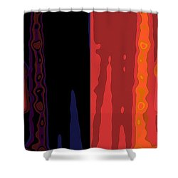 I Love You Shower Curtain by Stelios Kleanthous