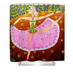 I Want To Dance All Night. Shower Curtain