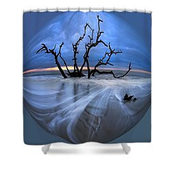 I Would Go To The Ends Of The Earth For You Shower Curtain by Debra and Dave Vanderlaan