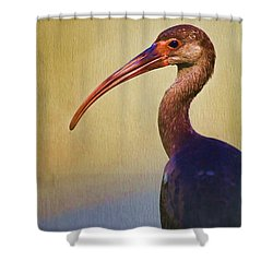 Ibis Nature Pose Shower Curtain by Deborah Benoit