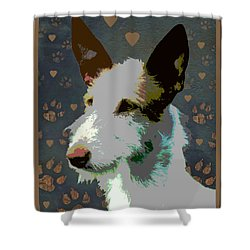 Ibizan Hound Shower Curtain by One Rude Dawg Orcutt