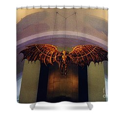 Icarus In The Louis Armstrong International Airport In New Orleans Shower Curtain by John Malone
