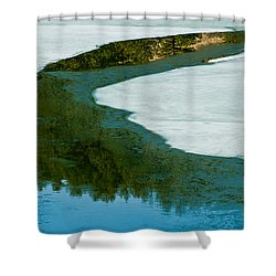 Ice Borders Shower Curtain by Colleen Coccia