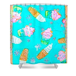 Ice Cream I Scream Shower Curtain