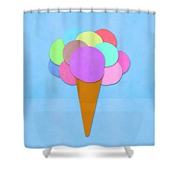 Ice Cream On Hand Made Paper Shower Curtain by Setsiri Silapasuwanchai