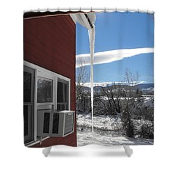 Ice In Motion Shower Curtain by Adam Cornelison