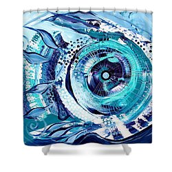 Icehole Fish Shower Curtain