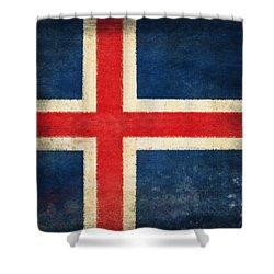 Iceland Flag Shower Curtain by Setsiri Silapasuwanchai