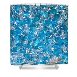 Ice Blues Shower Curtain by Beth Saffer