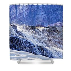 Shower Curtain featuring the photograph Icy Cascade by Albert Seger