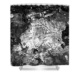 Shower Curtain featuring the photograph Icy Road by Chalet Roome-Rigdon