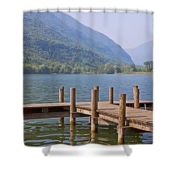idyllic tarn in Italy Shower Curtain by Joana Kruse