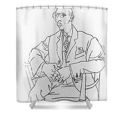 Igor Stravinsky, Russian Composer Shower Curtain by Omikron