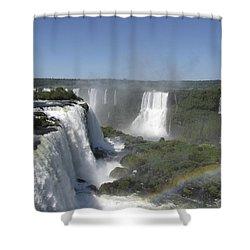 Shower Curtain featuring the photograph Iguazu Falls by David Gleeson