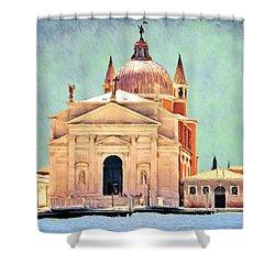 Il Redentore Shower Curtain by Jeffrey Kolker